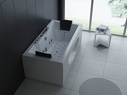 Luxus Whirlpool Badewanne 180x90 in Vollausstattung (Massage) - Sonderaktion